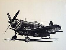 WW2 Aircraft P-51 P-47 P-38 F4U B-17 B-24 B-29 C-47 PT-17 LE Aviation Art Lot