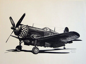 WW2-Aircraft-P-51-P-47-P-38-F4U-B-24-B-29-C-47-PT-17-LE-Aviation-Art-8-Prints
