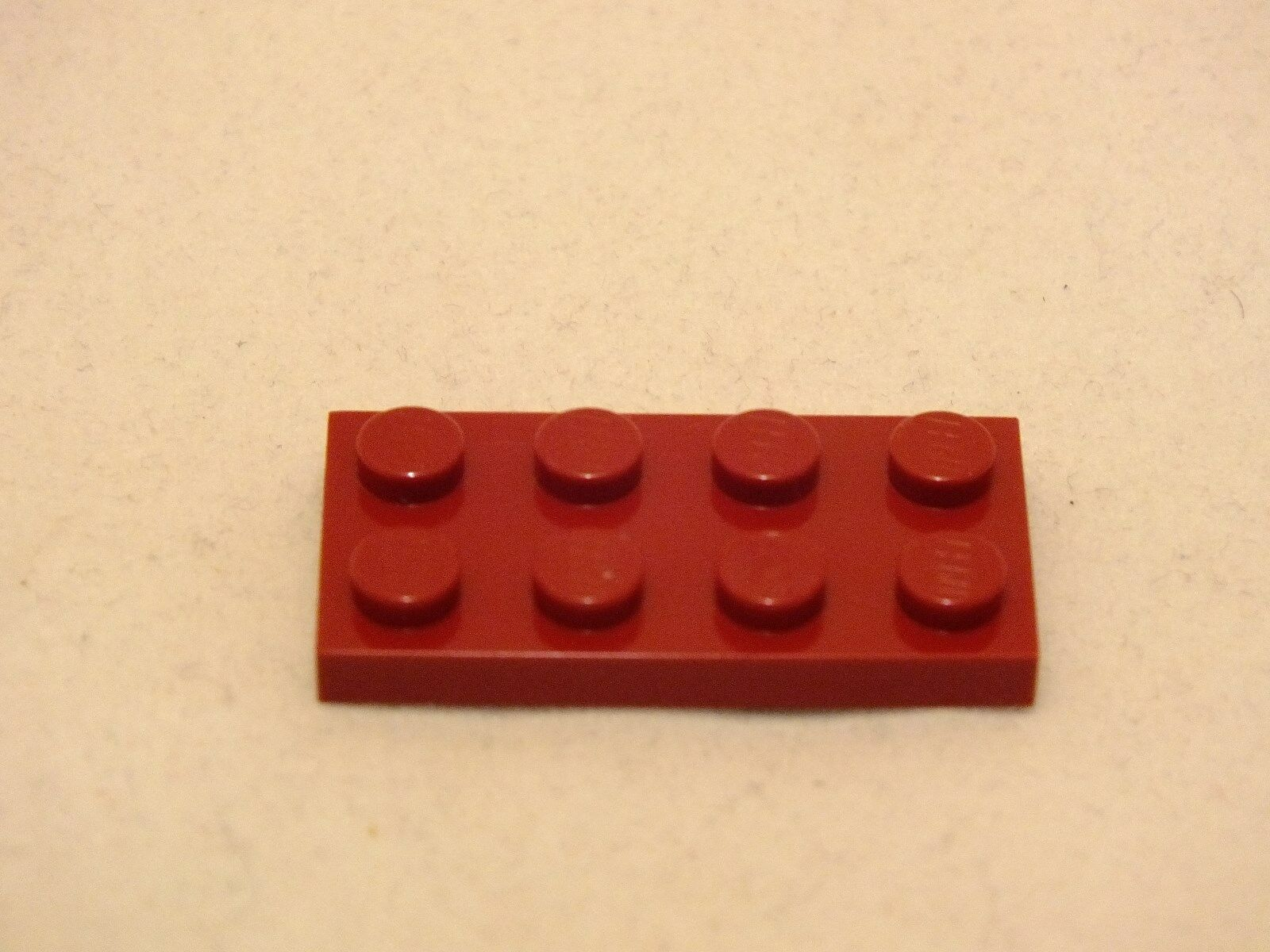 LEGO 2X4 DARK RED FLAT FLAT FLAT PLATE BRAND NEW NEVER USED 340 PIECES 8d88ee