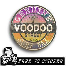 Etiqueta engomada de la cera de Surf Original Vintage, Voodoo Street LTD Panel Van, Camper,! Excelente!