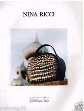 Publicité Advertising 1991 Le sac à main Nina Ricci par Dominique Issermann
