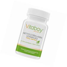 Vitabay Methylcobalamin 5000 mcg Vitamin B12 - 60 Vegane Lutschtabletten