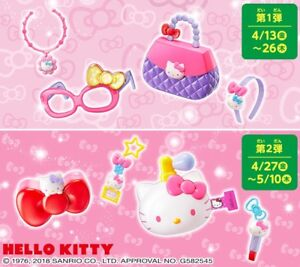 Hello Kitty McDonald's Happy Meal Toys Set of 8 Complete & Stickers 2018 Japan