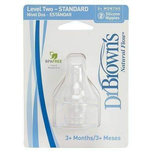 Wide Mouth Teat 9 Meses Transparent Dr.Browns Options/
