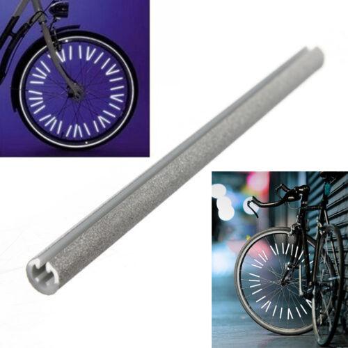 36x Bike Bicycle Vehicle Wheel Spoke Reflector Reflective Mount Clip Tube Decor