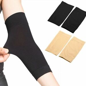1~2 Pairs Black Skin Forearm Tattoo Cover Up Bands Compression Sleeves Men Women