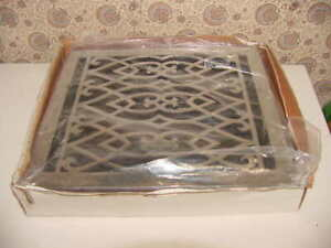 Whittington Brass Floor Register Louvers Victorian 12x14 Chrome Vic1214br Ch Ebay