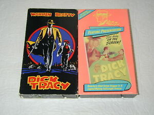 DICK-TRACY-WARREN-BEATTY-2-TAPE-LOT-VHS-RARE-HTF-OOP