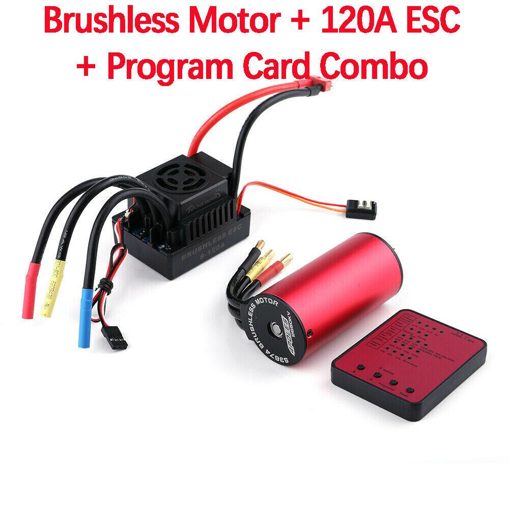 S3674 2650kv  Sensorless Brushless Motore +120a ESC + Program autod per 1 8 RC Auto  Senza tasse