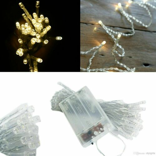 20-500 LED Fairy String Lights Clear Cable for Xmas Tree Indoor /& Outdoor Decor