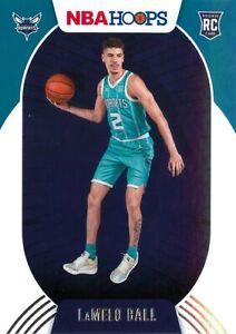 LaMelo Ball RC 2020-21 Panini NBA Hoops Base Rookie Card #223 Charlotte Hornets