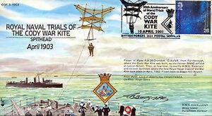 COF 03-1903 Century of Flight - Naval Trials of The Cody War Kite - Signed !