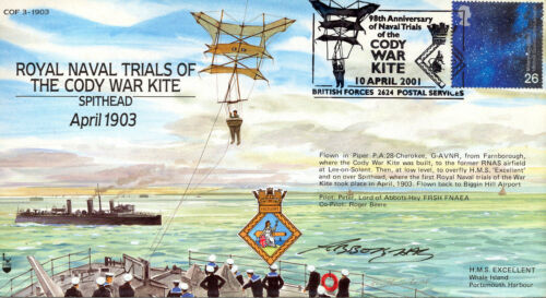 COF 03-1903 Century of Flight - Naval Trials of The Cody War Kite - Signed !