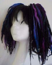 Wool Dreads short hair fall black blues festival goth kawaii harajuku cosplay