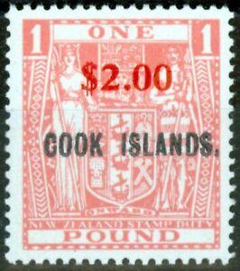 Cook-Iles-1967-2-sur-Rose-SG219-V-F-MNH