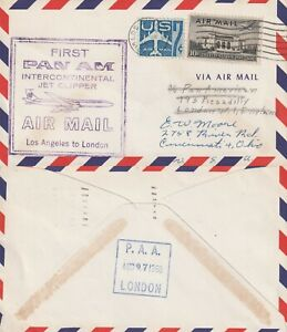 US-1959-PAN-AM-CLIPPER-FIRST-FLIGHT-FLOWN-COVER-LOS-ANGELES-TO-LONDON-ENGLAND