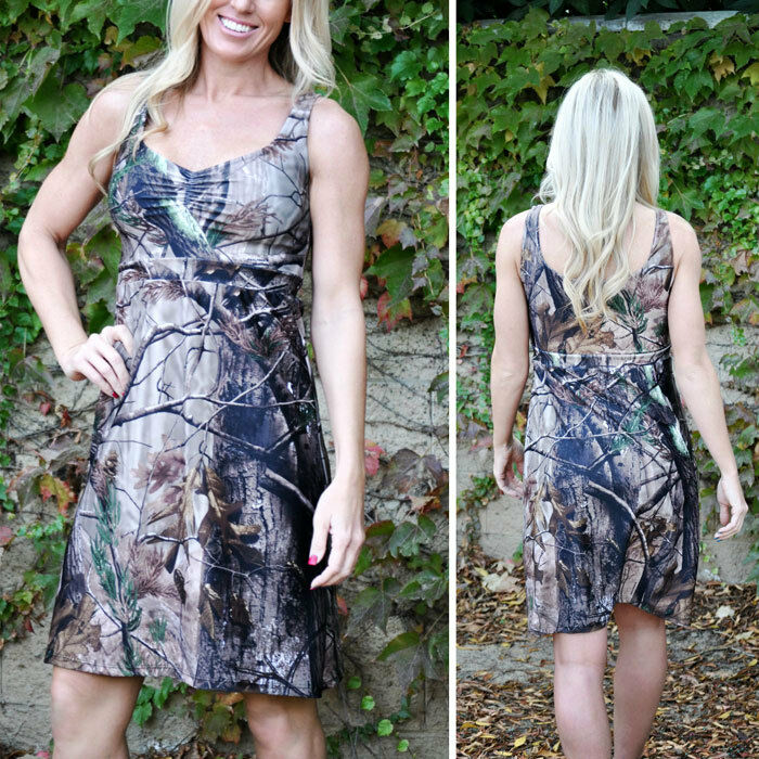 Camo Dress Camouflage Dress Camo Clothing Camo Wedding Camo Bridesmaid Dress US