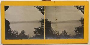 Lac Di Albano Circa Da Roma Italia Foto Stereo Vintage Analogica 1911