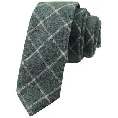 Wool Skinny Tie Country Brown Mens Tweed Excellent Quality /& Reviews UK.