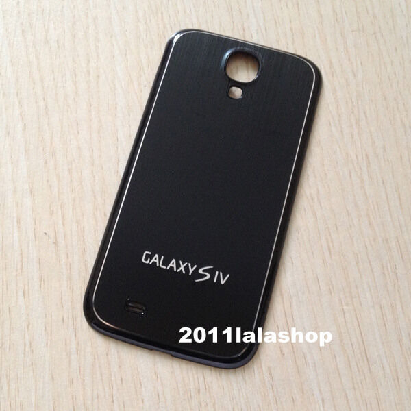 Black Replacement Metal Battery Back Cover Housing for Samsung Galaxy S4 i9500 B