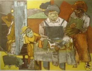 Romare-Bearden-034-The-Family-034-Original-Etching-Aquatint