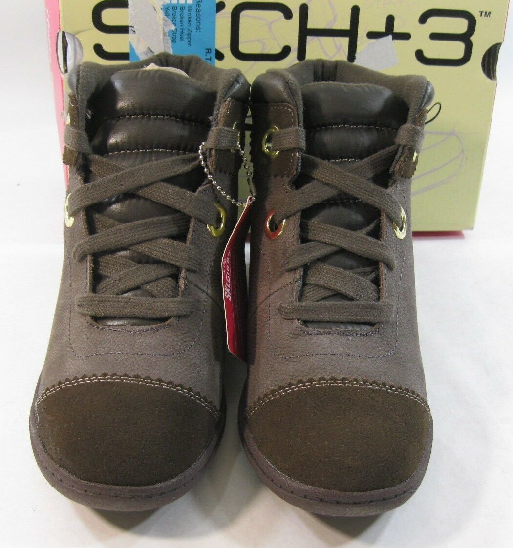 Chocolate 2.5  Hidden Wedge Round Toe Ankle Ankle Ankle Stiefel Größe 6.5 ff484d