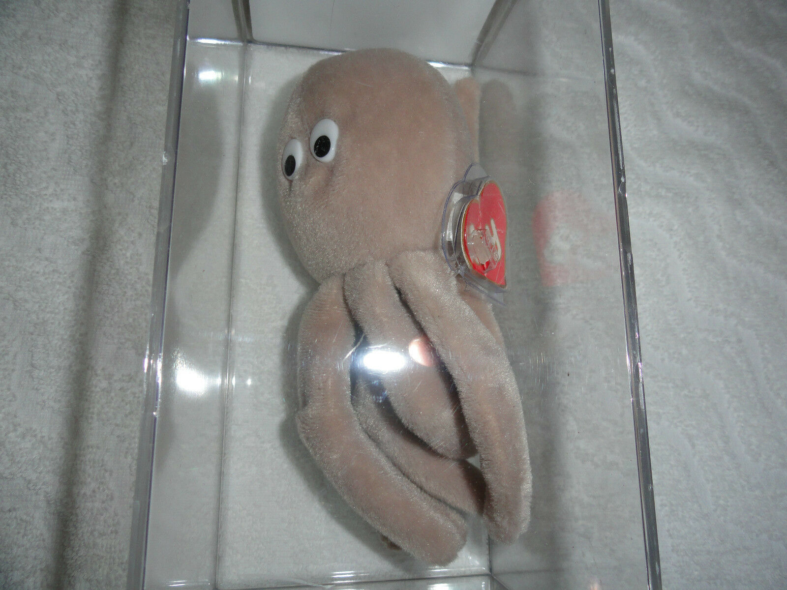Authenticated Ty Beanie Baby 1ST GEN Tan Inky Without A Mouth  ULTRA RARE
