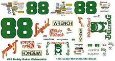 #88 Buddy Baker Liquid Wrench Oldsmobile 1/64th HO Scale Slot Car Decals