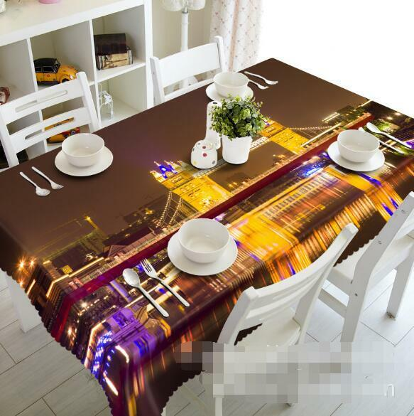 3D Night 426 Tablecloth Table Cover Cloth Birthday Party Event AJ WALLPAPER AU