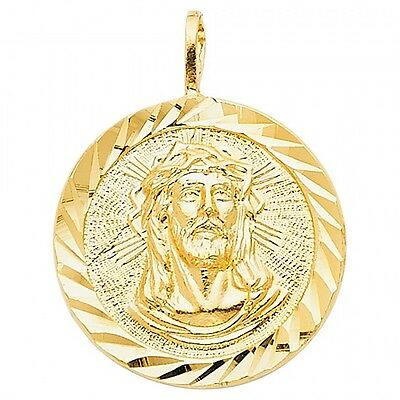 14K Yellow Gold Religious Jesus Christ Body Pendant GJPT1201