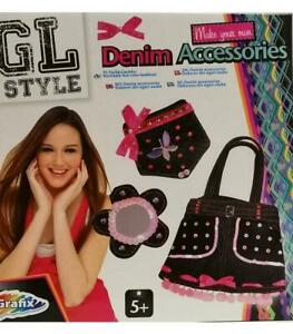 GL Style Dazzling Denim Make Your Own Handbag Purse /& Accessories Girls Craft.