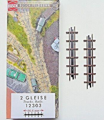 Gerades Gleis 66,6 mm Neu Busch 12303 Feldbahn H0f