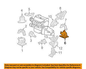 acura honda oem 06-08 tsx-engine motor mount torque strut 50810sdae01 | ebay  ebay