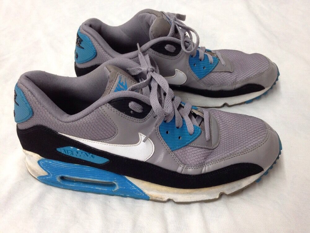 NIKE AIR MAX Men's Athletic Shoes Gray, Blue, Black & White Price reduction The latest discount shoes for men and women