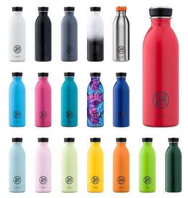 24 Bottles Borraccia Acciaio Inox Nuovo/scatola Originale 0,5l Design Flacone 2018 Colorato Bpa Libero-mostra Il Titolo Originale