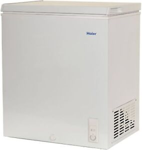 Details about Haier Chest Deep Freezer 5.0 cu ft Small Size Compact Dorm  Apartment, White NEW!