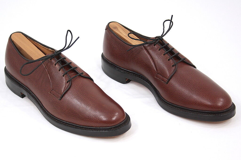 Homme Allen Edmonds LEEDS FOULONNE Marron En Cuir Plain Toe Derby Derbies 10.5 AAA