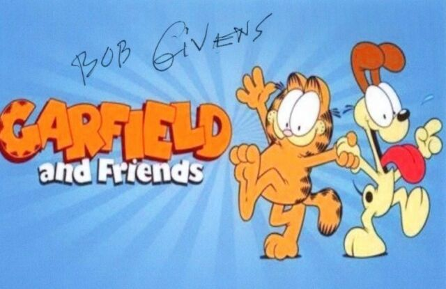 BOB GIVENS signed autographed GARFIELD AND FRIENDS photo