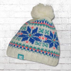 Konstruktiv Dc Shoes Damen Strick-mütze Gefüttert Camden 15 Snow Beanie Weiss Bommelmütze Kleidung & Accessoires