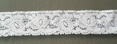 """Cream Broderie Anglaise Lace Trim Trimming 50 mm 2/"""" 5 cm Please Choose Length"""