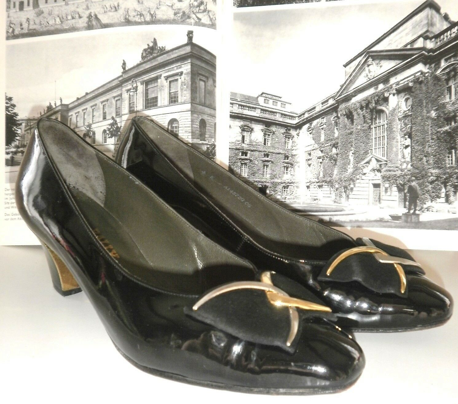 BALLY Damen Pumps SABLON made switzerland TRUE VINTAGE Schuhe Lackschuhe N5007