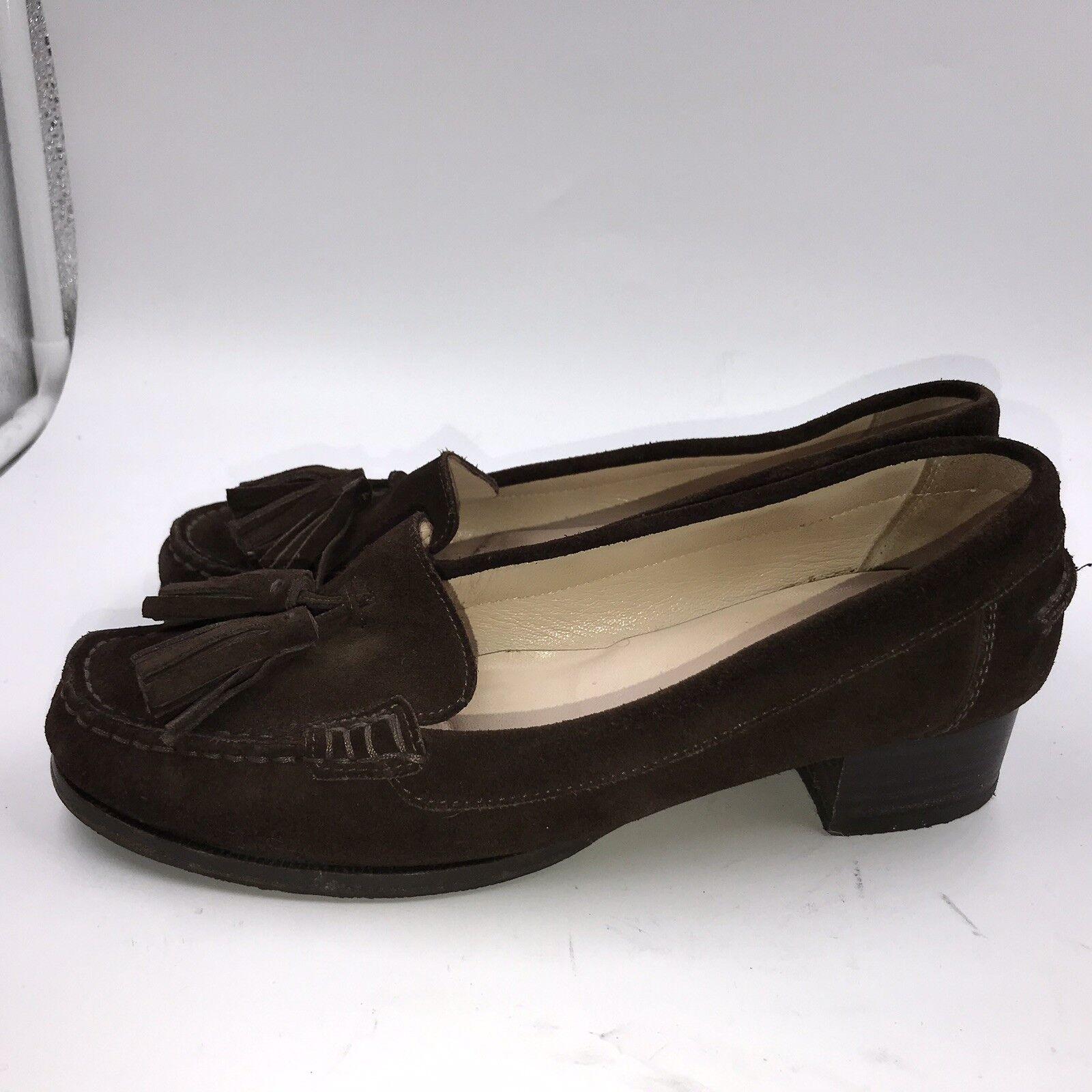 LK Bennett Sz 5 38 marron en Daim À Gland Mocassins Chaussures Pour Femme