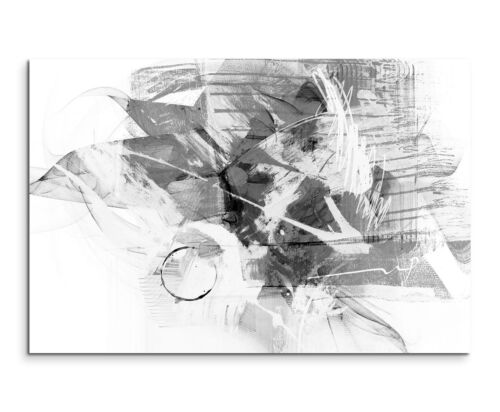 Leinwandbild abstrakt schwarz grau weiß Paul Sinus Abstrakt/_774/_120x80cm