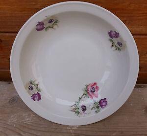 Antico-piatto-in-ceramica-con-soprammobile-floreale-vasellame-decorazione