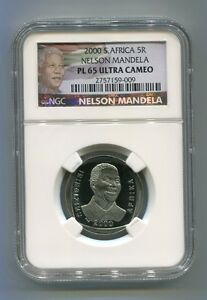 NGC-Proof-PL-65-South-Africa-Nelson-Mandela-R5-Coin-5R-With-New-Mandela-Label