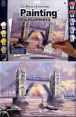 LONDON TOWER BRIDGE AT DUSK PAINTING LARGE ACRYLIC A3 PAINT BY NUMBERS PAL31