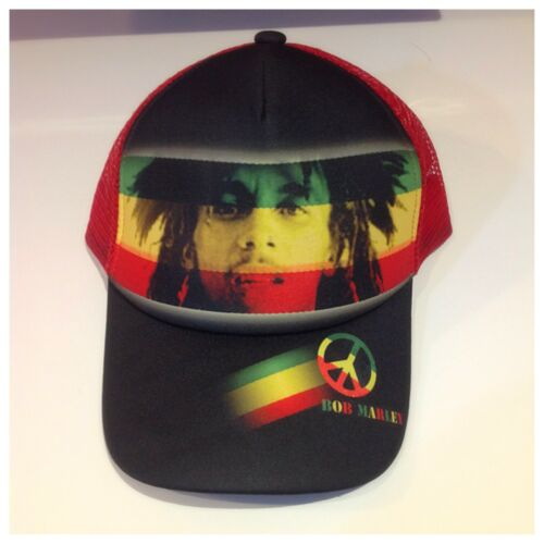 Black And Red Colour Hats New Bob Marley Rasta Reggae Cap