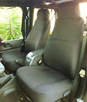 Jeep Wrangler 2003-06 Neoprene Front Set Black Car Custom Fit Seat Cover Fs2fro