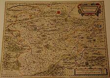 CARTINA STORICA herzogt. Vestfalia Brilon Olpe Plettenberg MONTAGNA INVERNO 1658