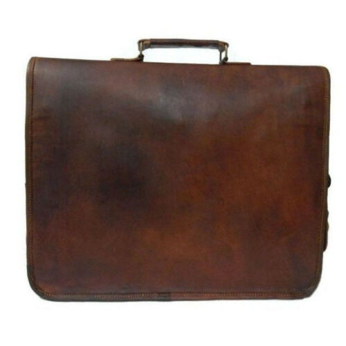 Âge Ordinateur Porte Portable Hommes Brown Épaule Chèvre Sac 18 documents LaptopVintage 25 Cuir Messenger zSGUpqMV